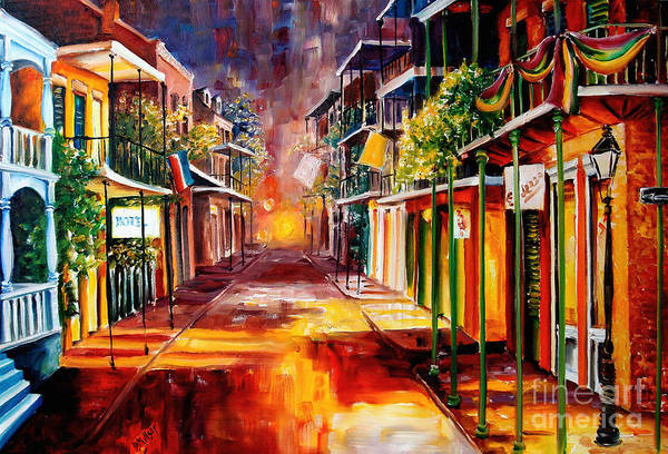 New Orleans Print featuring the painting Twilight In New Orleans by Diane Millsap