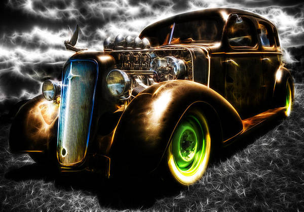Custom Chevy Print featuring the photograph 1936 Chevrolet Sedan by Phil 'motography' Clark