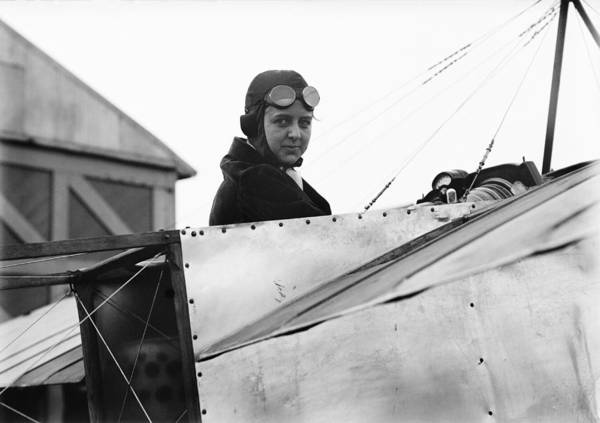 Bernetta Miller Print featuring the photograph Bernetta Miller, Us Aviator by Science Photo Library