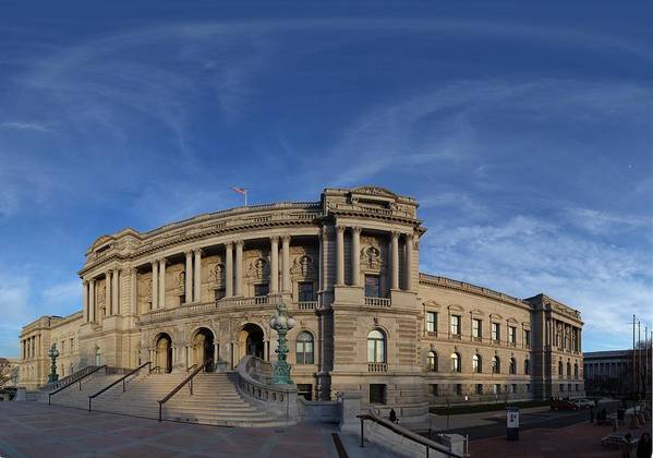 Washington Print featuring the photograph Library Of Congress - Washington Dc - 011324 by DC Photographer