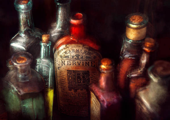 Hdr Print featuring the photograph Pharmacy - A Safe Rheumatic Cure by Mike Savad