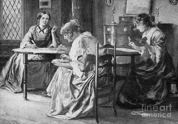 1840s Print featuring the photograph BrontË Sisters by Granger