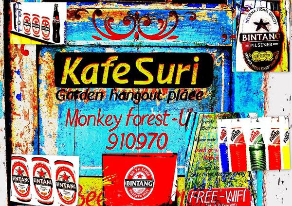 Bali Print featuring the photograph Funky Kafe Suri In Bali by Funkpix Photo Hunter