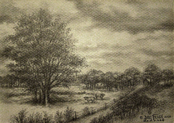 Wickliffe Landscape Print featuring the drawing Wickliffe Landscape by Debi Frueh