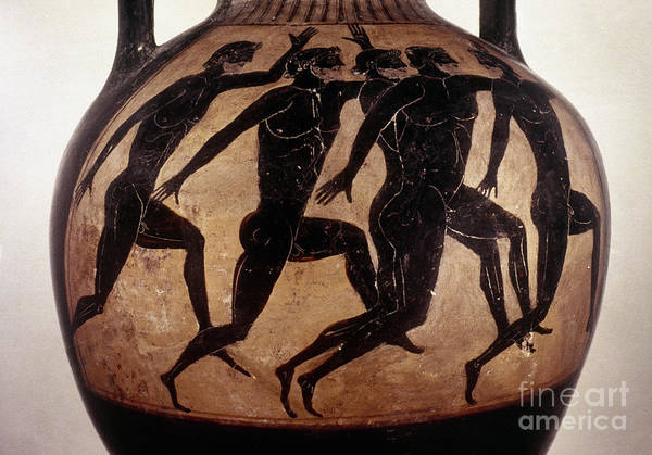 6th Century B.c Print featuring the photograph Attic Black-figured Vase by Granger