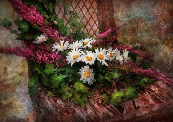 Suburbanscenes Print featuring the digital art Flower - Still - Seat Reserved by Mike Savad