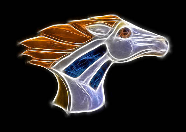 Bronco Print featuring the photograph Glowing Bronco by Shane Bechler