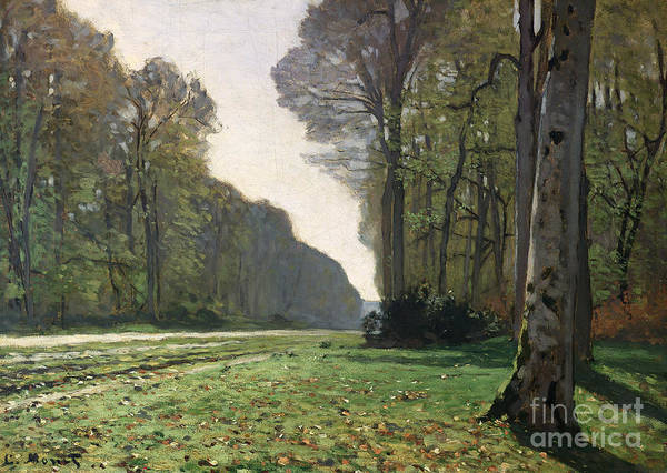 The Print featuring the painting Le Pave De Chailly by Claude Monet