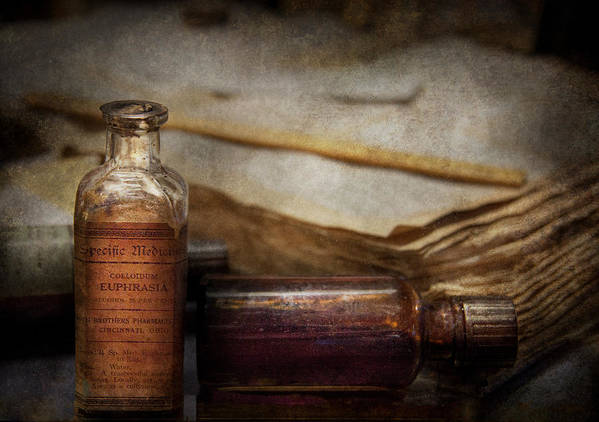 Hdr Print featuring the photograph Pharmacist - Specific Medicines by Mike Savad