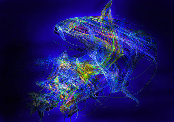 Digital Print featuring the mixed media Shark Beauty by Michael Durst