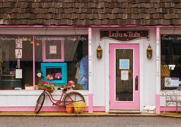 Savad Print featuring the photograph Store - Lulu And Tutz by Mike Savad