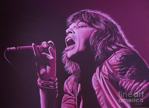 Paul Meijering Print featuring the painting Mick Jagger by Paul Meijering