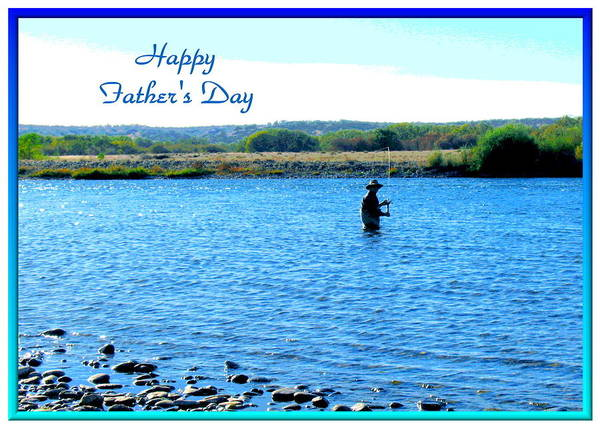Father\'s Day Print featuring the photograph Gone Fishing by Joyce Dickens