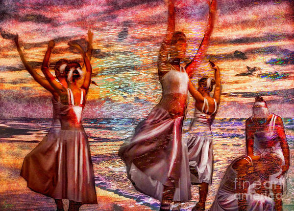 Ballet Print featuring the photograph Ballet On The Beach by Jeff Breiman