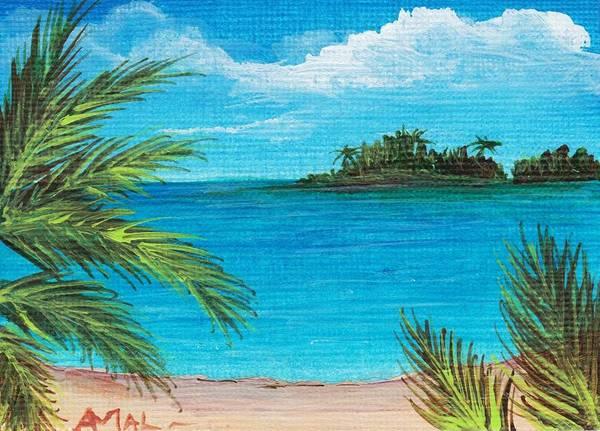 Interior Print featuring the painting Boca Chica Beach by Anastasiya Malakhova