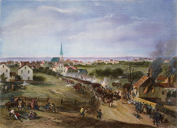 1775 Print featuring the photograph British Retreat, 1775 by Granger
