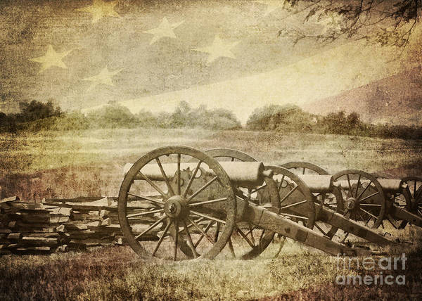Battle Print featuring the photograph Cannons At Pea Ridge by Pam Holdsworth