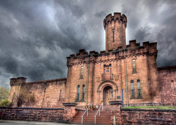 Schuylkill County Prison Print featuring the photograph Castle Of Solitude by Lori Deiter