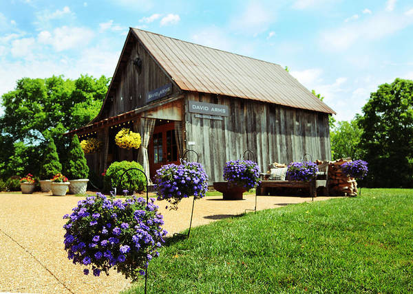 Barn Print featuring the photograph David Arms Gallery by Gary Prather