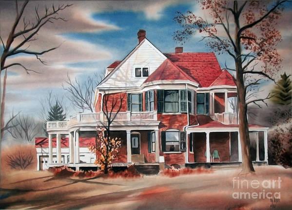 Edgar Home Print featuring the painting Edgar Home by Kip DeVore