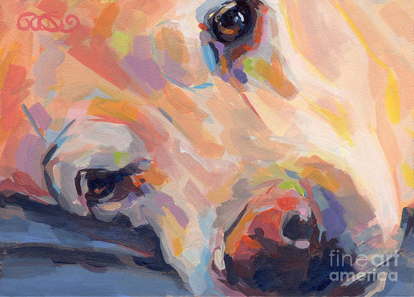 Yellow Lab Print featuring the painting Grace by Kimberly Santini