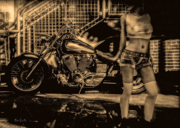 Motorcycle Print featuring the photograph Her Bike by Bob Orsillo