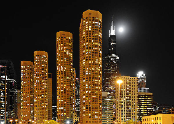 Chicago Print featuring the photograph Presidential Towers Chicago by Christine Till