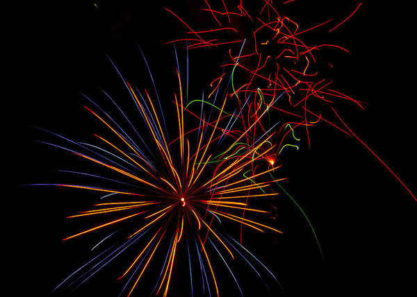 July 4th Print featuring the photograph The Art Of Fireworks by Saija Lehtonen