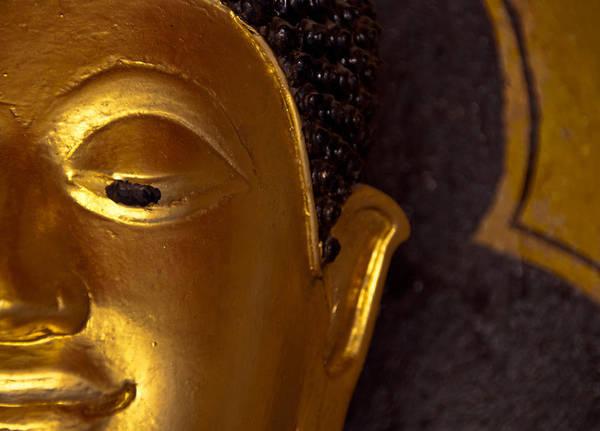 Buddha Print featuring the photograph Buddha's Face by Preston Coe