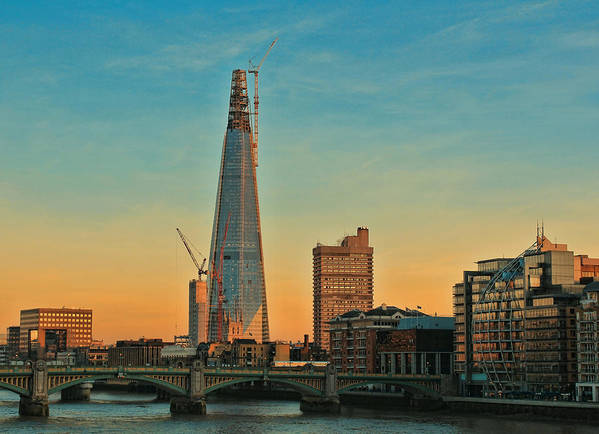 Shard London Bridge Print featuring the photograph Building Shard by Jasna Buncic