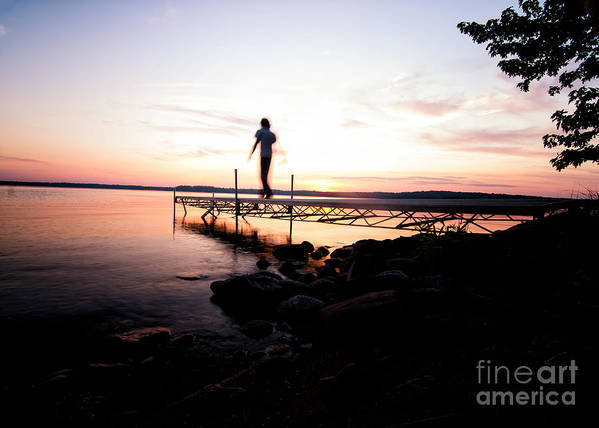 Sunset Photography Print featuring the photograph Evanesce - I'm Not Here by Venura Herath