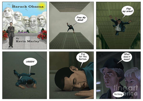 Barack Obama Print featuring the digital art Free Your Mind IIi by Kevin Marley