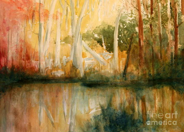 Paintings Print featuring the painting Yellow Medicine Creek 2 by Julie Lueders