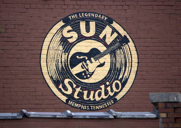 Sun Studio Print featuring the photograph Sun Studio Memphis Tennessee by Wayne Higgs