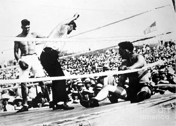 1919 Print featuring the photograph Jack Dempsey (1895-1983) by Granger