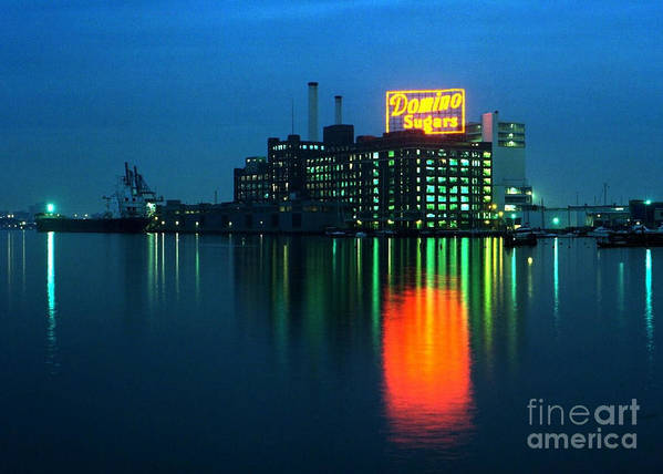 Baltimore Print featuring the photograph Domino Sugars Baltimore Maryland 1984 by Wayne Higgs