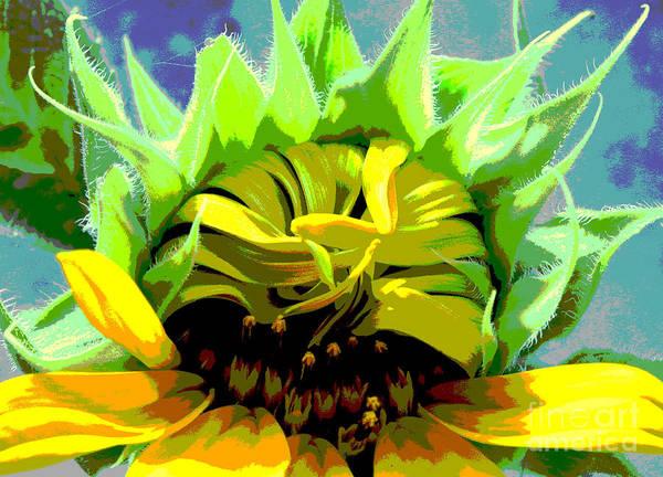 Sunflowers Print featuring the photograph Morning Awakening by Lori Mellen-Pagliaro