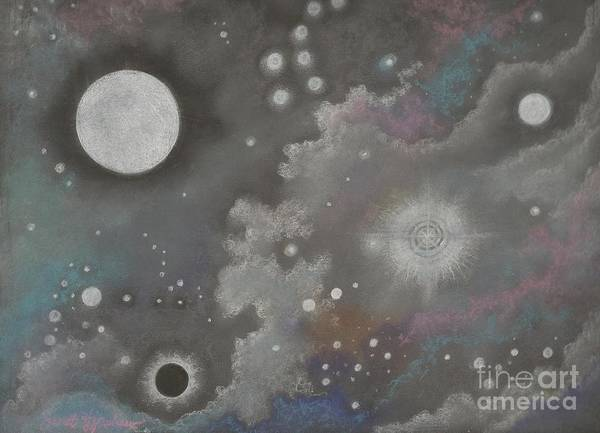 Atmospheric Print featuring the drawing Stardust by Janet Hinshaw