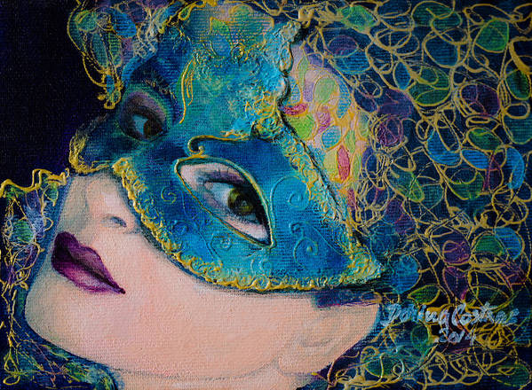 Art Print featuring the painting Colombina's Sight by Dorina Costras