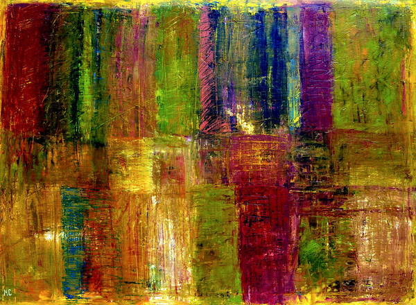 Abstract Print featuring the painting Color Panel Abstract by Michelle Calkins