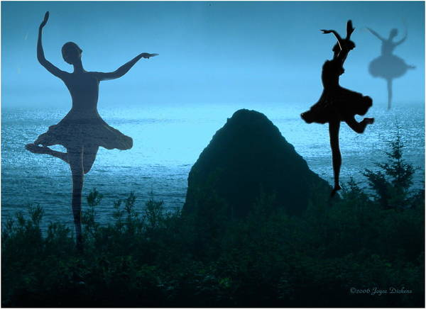 Ballerina Print featuring the photograph Dance Of The Sea by Joyce Dickens