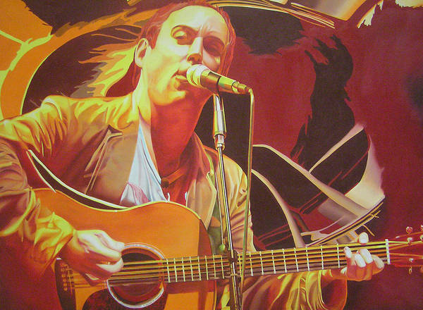 Dave Matthews Print featuring the painting Dave Matthews At Vegoose by Joshua Morton