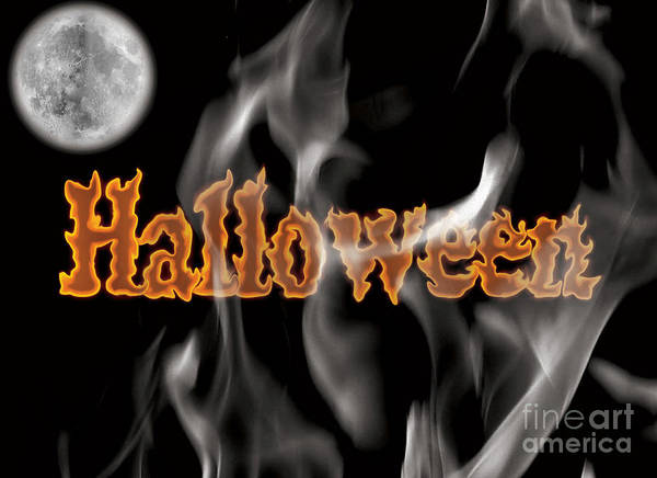 Halloween Print featuring the digital art Halloween by Angela Pelfrey