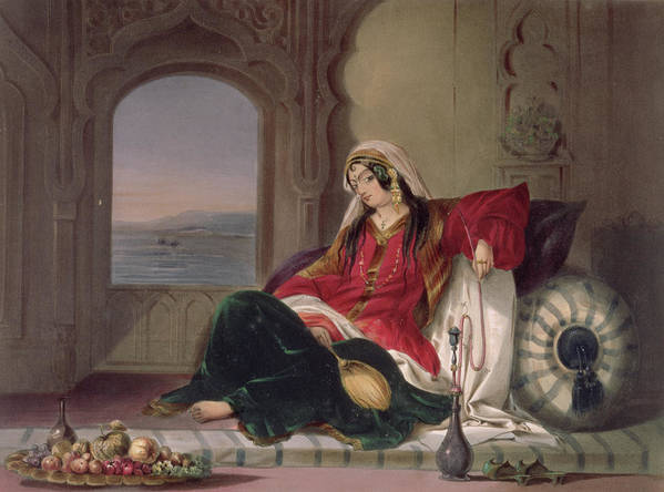 Print Print featuring the drawing Kandahar Lady Of Rank by James Rattray