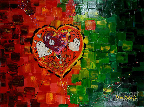 Art Print featuring the painting Mechanism Of Love by Alexandru Rusu