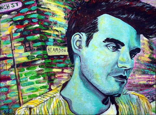 Morrissey Print featuring the painting Morrissey by Kat Richey
