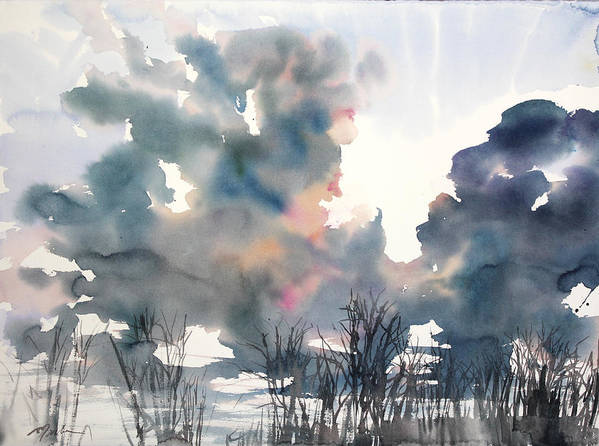 Woods Print featuring the painting New England No.197 by Sumiyo Toribe