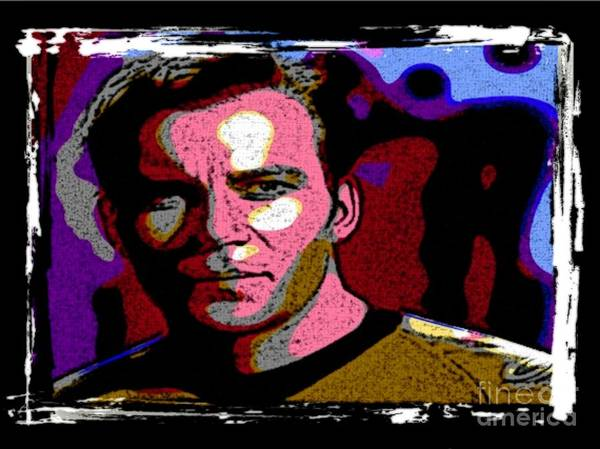 Star Trek Canvas Prints Print featuring the digital art Ode To Star Trek by John Malone