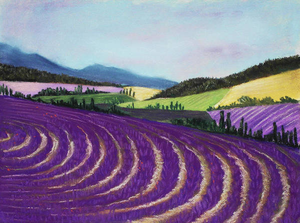 Interior Print featuring the painting On Lavender Trail by Anastasiya Malakhova