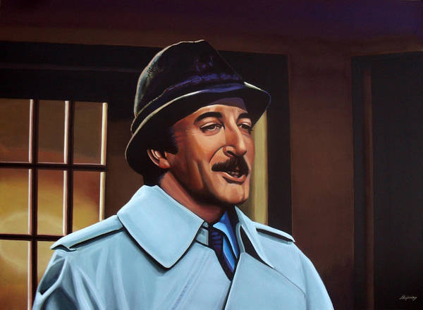 Peter Sellers Print featuring the painting Peter Sellers As Inspector Clouseau by Paul Meijering